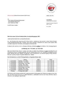 Online Schiedsrichter Anwärterlehrgang 2021!