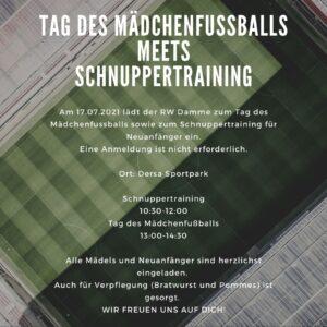 Am 17.07. ist Tag des Mädchenfußballs